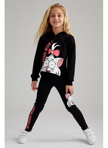 DeFacto Kız Çocuk Kral Şakir Lisanslı Sweatshirt Siyah